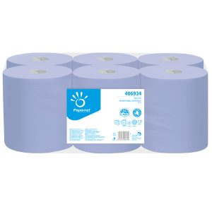 Papernet Auto Cut Roll Towel Blue 2ply 406934