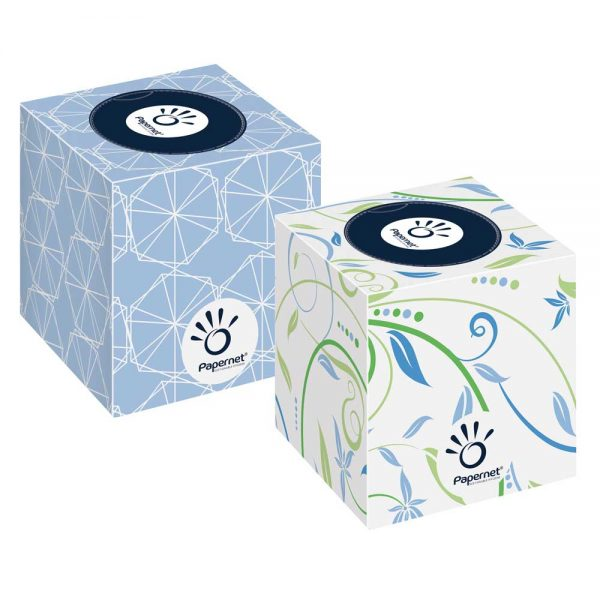 419588 Papernet Luxury Cubed Facial Tissue in a Cubed Box 3ply