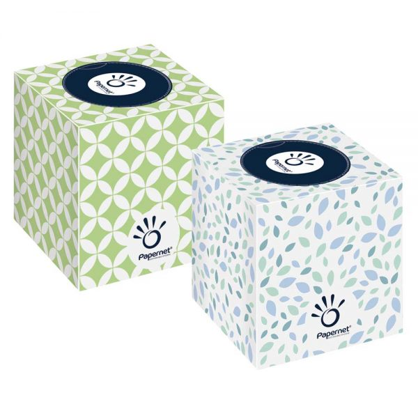 419583 Papernet Luxury Cubed Facial Tissue in a Cubed Box
