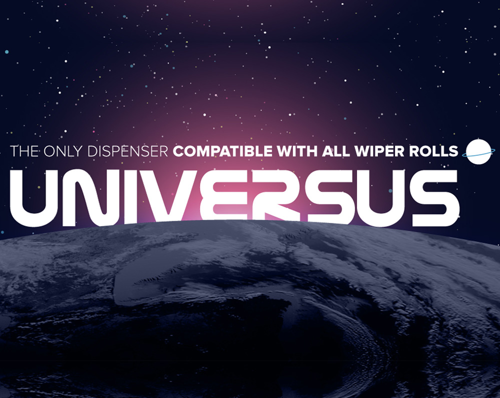 Universus The only compatible dispenser for any roll towel